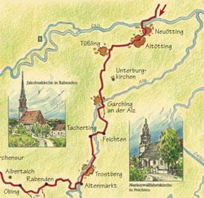 Bild der Wegbeschreibung des Jakobswegs